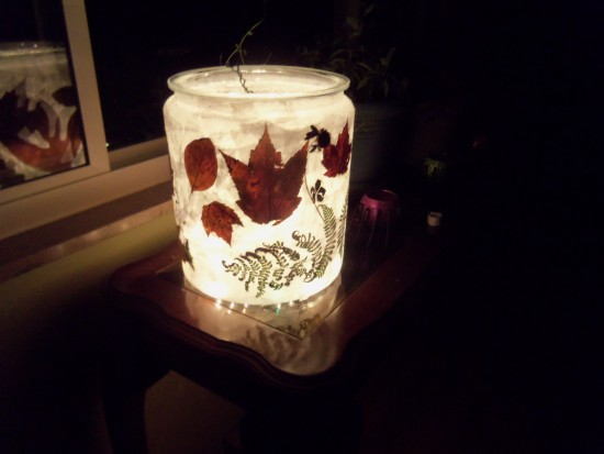 Autumn Glass: A Beautiful Fall Craft