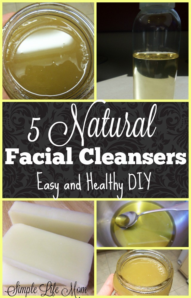 5 Natural Facial Cleansers - an Easy and Healthy DIY from Simple Life Mom