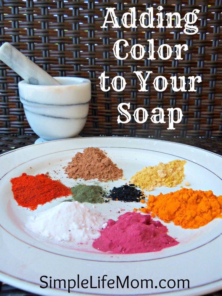 Adding Color to Homemade Soap