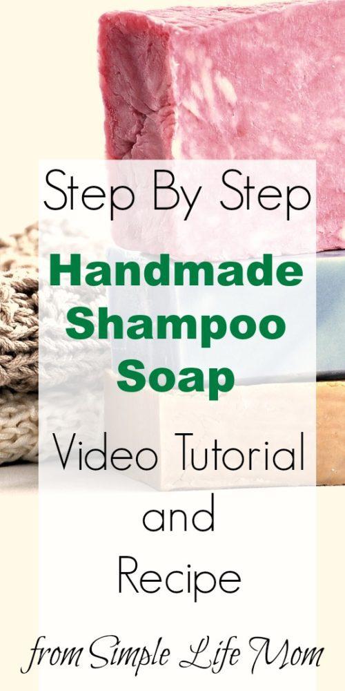 Handmade Shampoo Soap Video Tutorial from Simple Life Mom