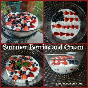 Summer Berries and Cream. A Great Independence Day or Fourth of July Recipe
