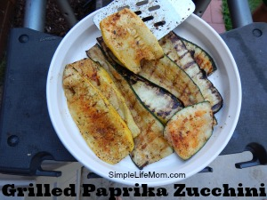 Grilled Paprika Zucchini