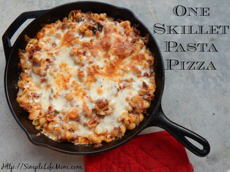 One Skillet Pasta Pizza