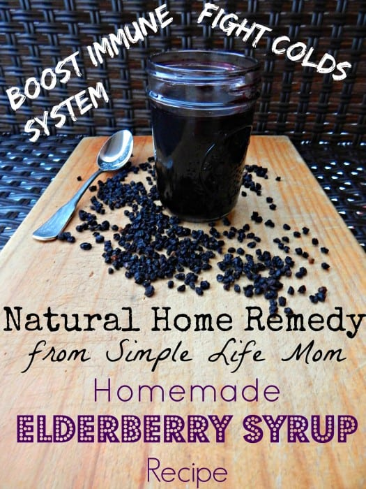 Natural Cold Remedy: Homemade Elderberry Syrup Recipe
