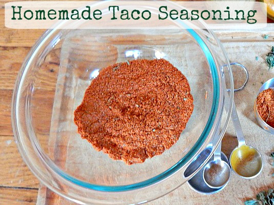 Taco Seasoning From Simple Life Mom