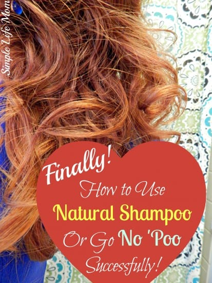 How to Go No 'Poo and use Natural Shampoo Successfully. Learn how to use shampoo bars, baking soda (and how NOT to use baking soda), about pH levels and deep conditioning so that you can have success.