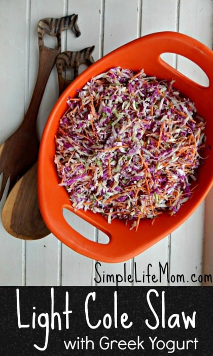 Light Cole Slaw Recipe with Greek Yogurt
