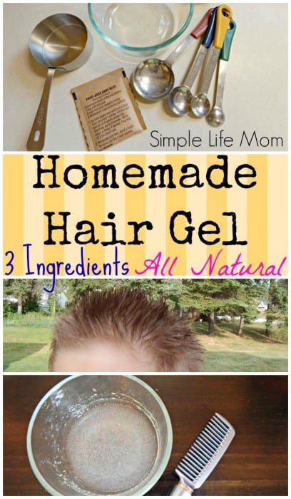 Homemade Hair Gel Recipe with just 3 Natural Ingredients from Simple Life Mom