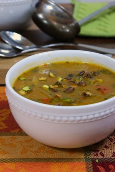 Homestead Blog Hop Feature - pumpkin-turmeric-rice-veggie-chicken-soup-chopped