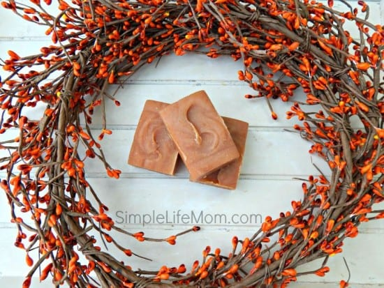 33 Homemade Gift Ideas with Essential Oils: Pumpkin Spice Soap