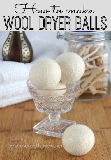 33 Natural Gift Ideas with Essential Oils: Wool Dryer Balls