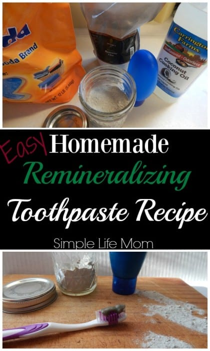 Easy Homemade Remineralizing Toothpaste Recipe by Simple Life Mom