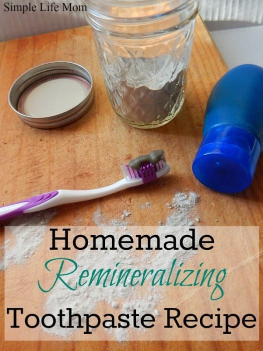 Homemade Remineralizing Toothpaste Recipe by Simple Life Mom