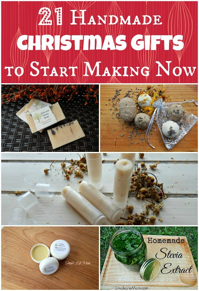 21 Handmade Christmas Gifts to Start Making Now by Simple Life Mom