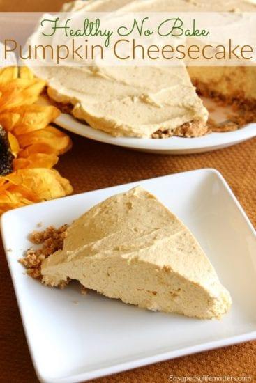 Homestead Blog Hop Feature healthy-no-bake-pumpkin-cheesecake