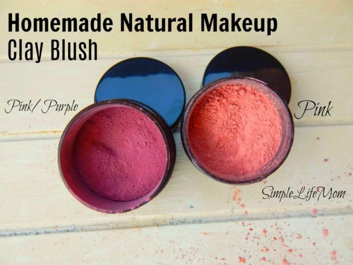 Homemade Natural Makeup Recipe Clay Blush from Simple Life Mom