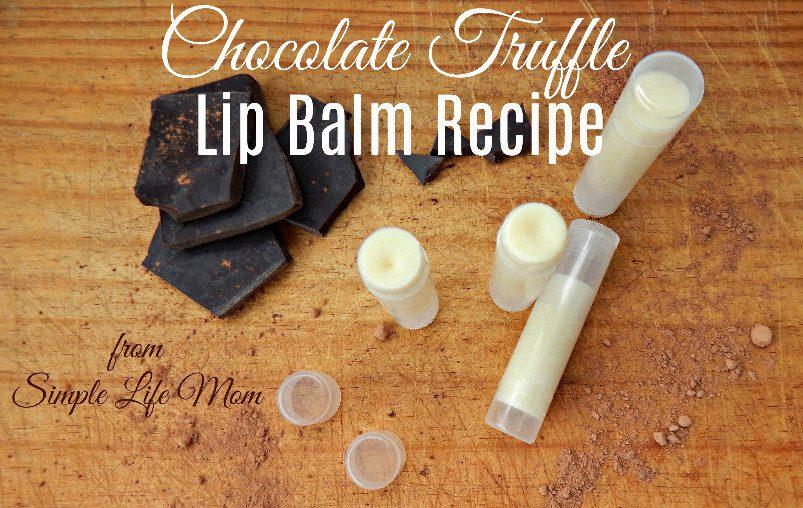 Chocolate Truffle Lip Balm Recipe by Simple Life Mom