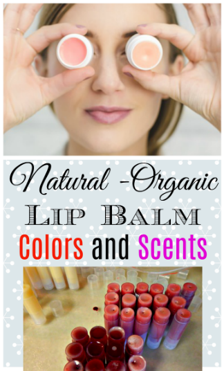 6 Natural Lip Balm Colors and Scents by Simple Life Mom