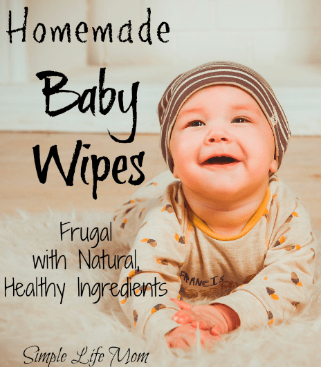Homemade Baby Wipes by Simple Life Mom