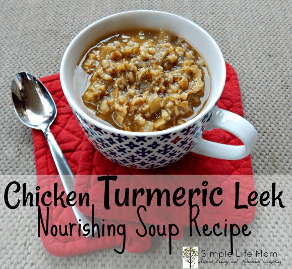 Chicken Turmeric Leek Soup Recipe by Simple Life Mom