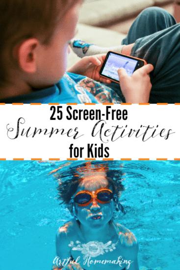 Homestead Blog Hop - screen-free summer activities