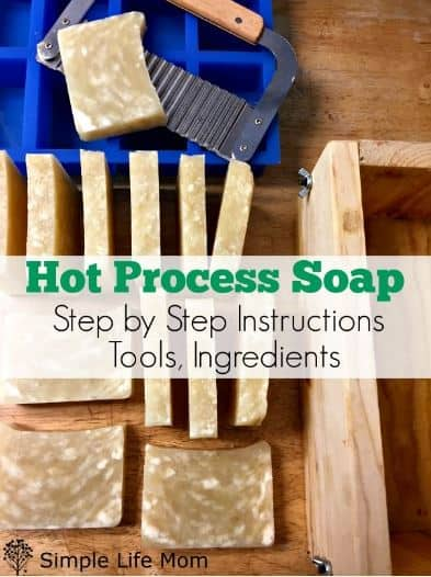 Hot Process Soap Step by Step Instructions from Simple Life Mom