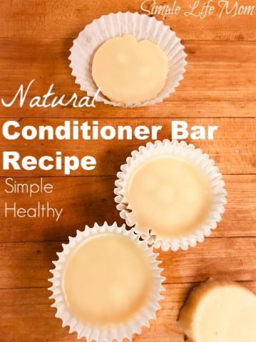 Natural Conditioner Bar Recipe from Simple Life Mom