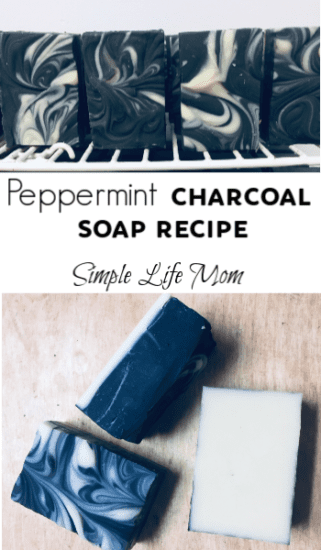 Peppermint Charcoal Soap Recipe by Simple Life Mom