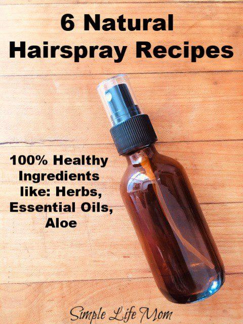6 Natural Hair Spray Recipes