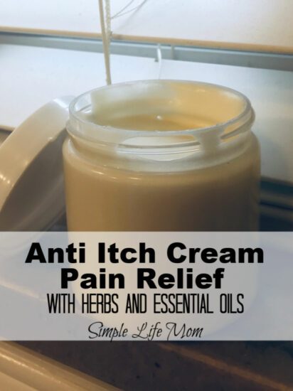 Natural Anti Itch and Pain Cream with herbs and essential oils by Simple Life Mom