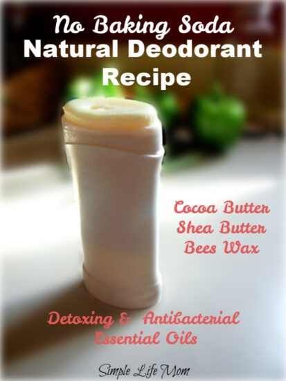 Homemade detoxing Deodorant without baking soda from Simple Life Mom