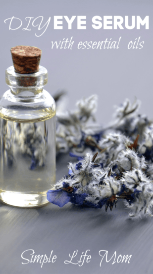 Eye Serum Recipe with essential oils from Simple Life Mom