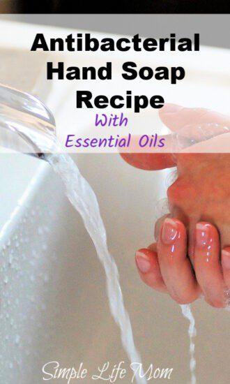 DIY Antibacterial Hand Soap - Liquid Soap Recipe from Simple Life Mom