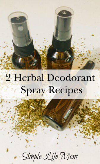 2 Herbal Deodorant Spray Recipes from Simple Life Mom