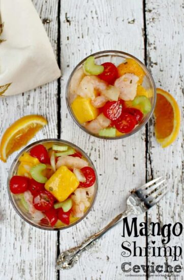 Homestead Blog Hop Feature - Mango Shrimp Ceviche Recipe