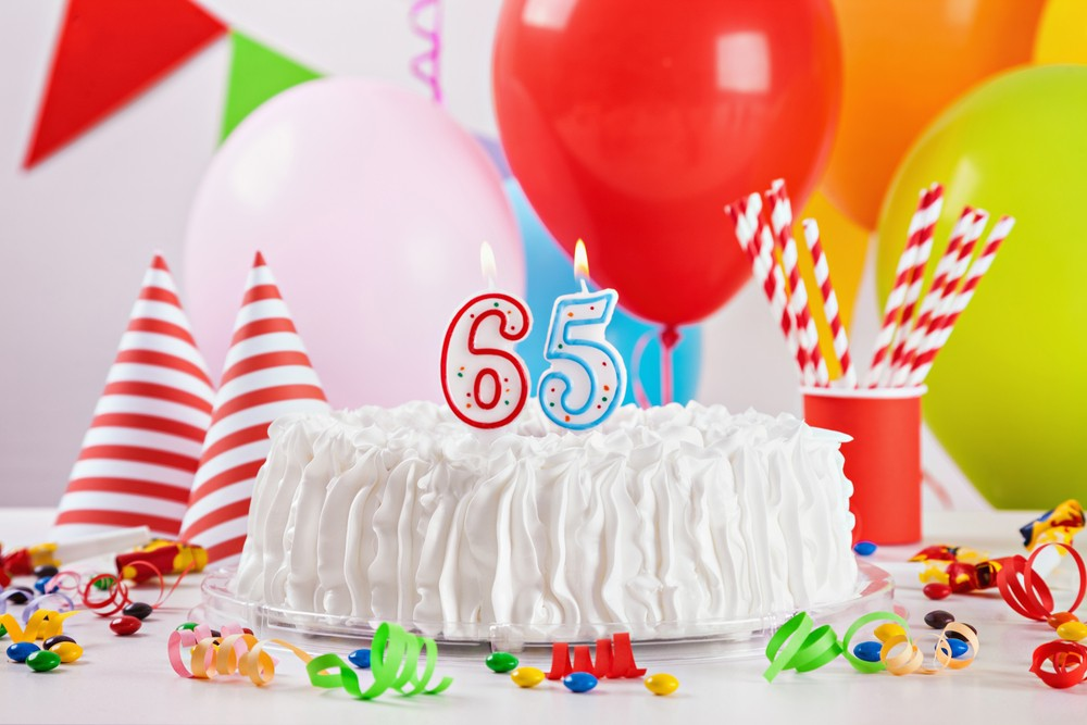 Birthday,Cake,On,Colorful,Balloon,Background,With,Other,Birthday,Decoration.