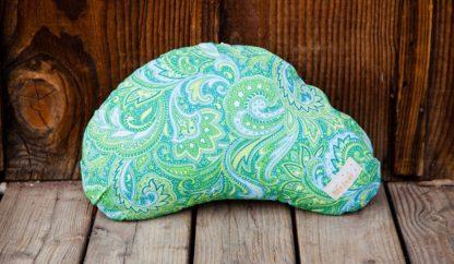 Littlebeam green paisly nursing pillow.