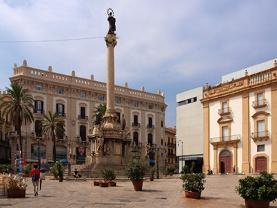 Piazza San Domenico in Palermo, Sicily, Italy
