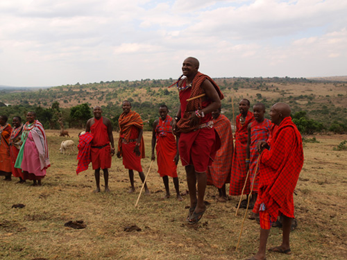 Masai warrior dance