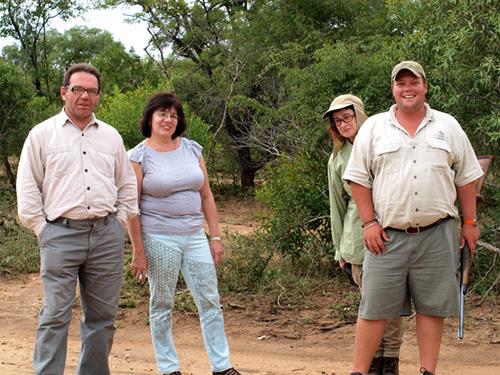 group going on African safari