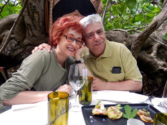 Irene and Alex Shaland at Fig Tree Restaurant, Kangaroo Island, Australia