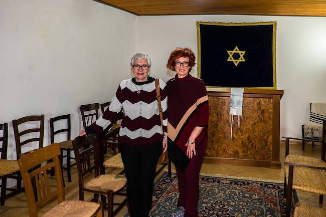 Rabbi Barbara Aiello and Irene Shaland