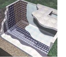 Habitación cisterna tradicional bicapa con protección pesada hormigón