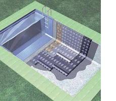 Habitación piscina tradicional bicapa con protección pesada revestimiento