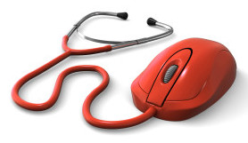 Computer mouse with stethoscope