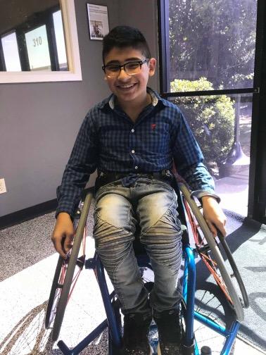 Basketball Wheelchair for Sam
