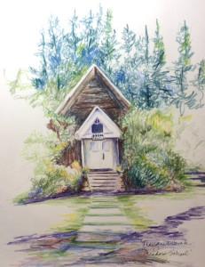 Old schoolhouse on the Christianson's Nursery grounds
