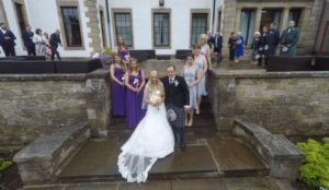 aerial wedding filming and photography in Scotland