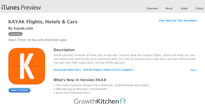 example for good app store title growthkitchen