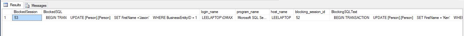 Blocked and Blocking SQL